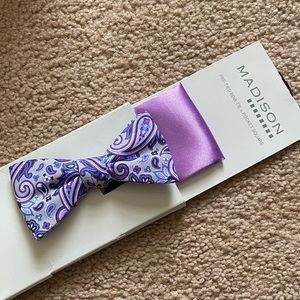 Other - Men's Pre-Tied Bow Tie & Pocket Square